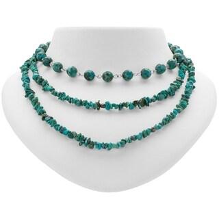"Tara Mesa 24"" Multi Strand Turquoise Bead Necklace"