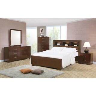 Jessica Dark Cappuccino 4-piece Bedroom Set with Storage Bed