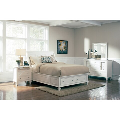 Sandy Beach 4-piece Bedroom Set with Storage Bed