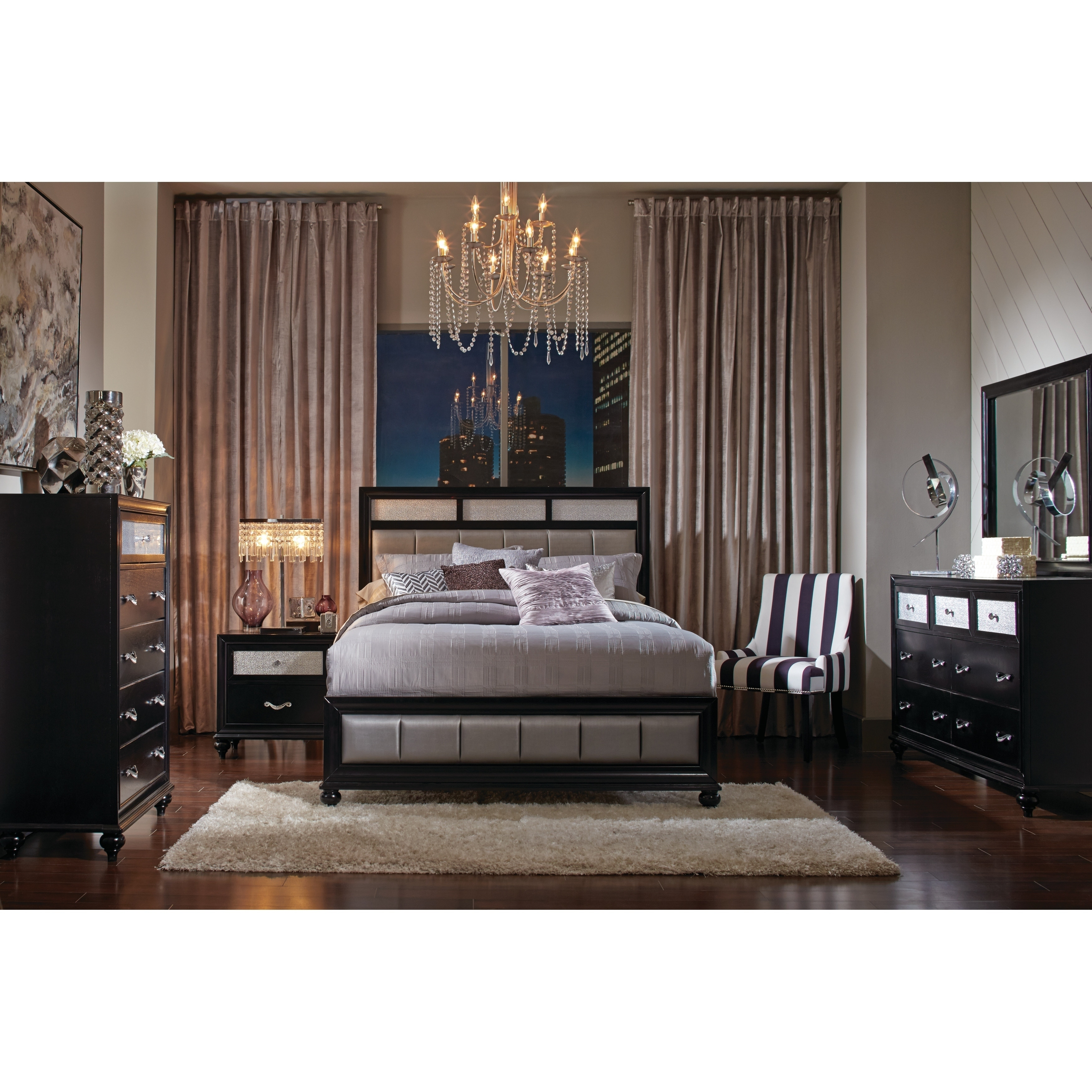 Shop Silver Orchid Alcorn Transitional 5-piece Bedroom Set - Free ...