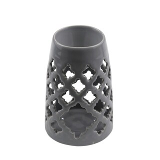 Sagebrook Home 13063-01 Decorative Ceramic Eastern Oil Burner, Gray Ceramic, 4 x 4 x 6 Inches