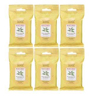 Burt's Bees 10-Count Facial Cleansing Towelettes with White Tea Extract (Pack of 6)