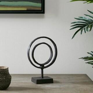 Madison Park Mara Black Ring Object Décor (Small)