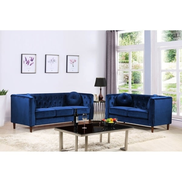Kitts Classic Upholstered Chesterfield 2 Piece Living Room Set
