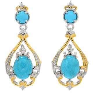 Michael Valitutti Palladium Silver Kingman Turquoise Dangle Earrings - Blue