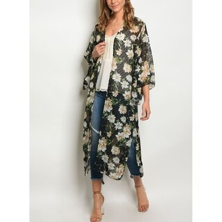 JED Women's Floral Chiffon Maxi Kimono Top (2 options available)