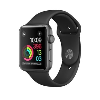 Apple Watch MJ3T2LL/A, Gen 1, 42MM Space Grey Aluminum Case/Black Sport Band