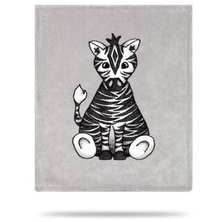 Baby Zebra Sterling/Zebra 30x36