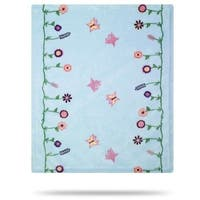 Whimsical Floral Blue/Soft Blue 30x36