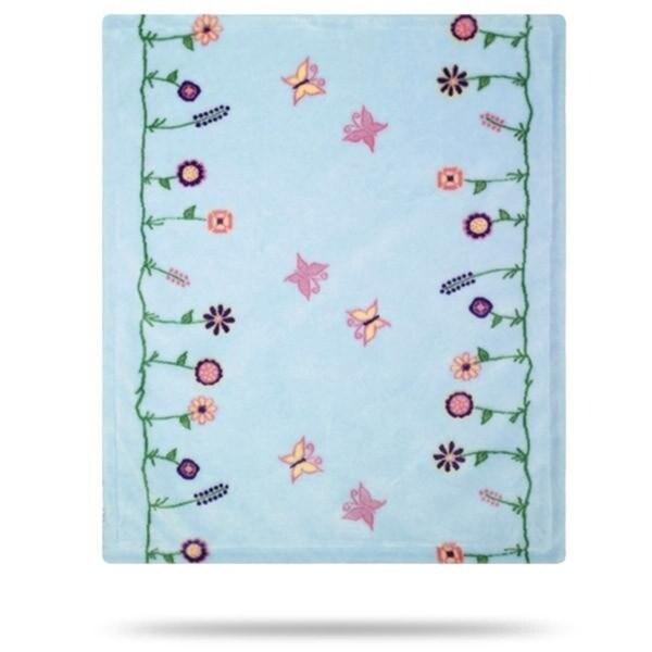 Whimsical Floral Blue/Soft Blue 30x36