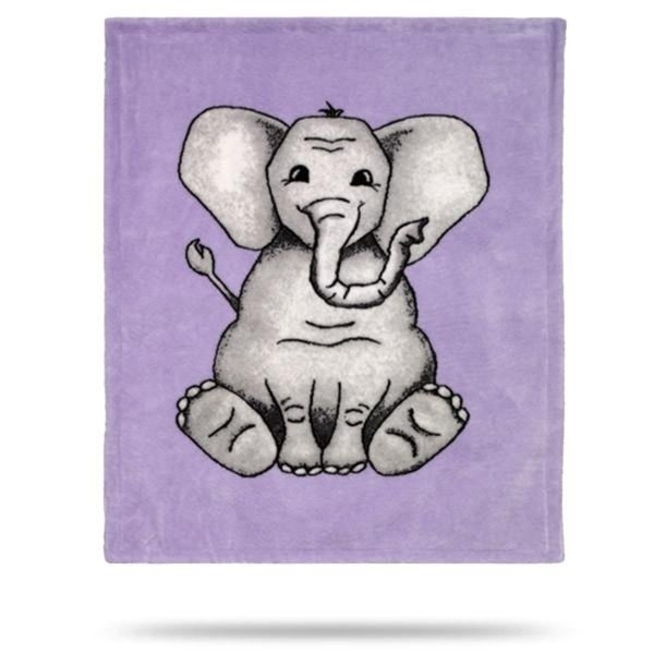 Baby Elephant Purple/Soft Purple 30x36