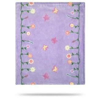 Whimsical Floral Purple/Soft Purple 30x36