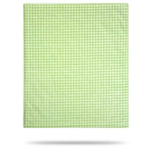 "Denali Gingham Light Green/Light Green 30""x36"" Baby Blanket"