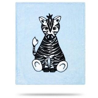 Baby Zebra Blue/Soft Blue 30x36