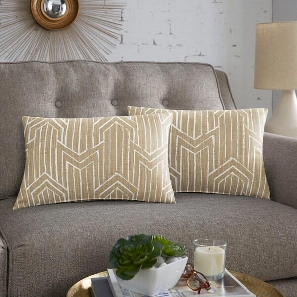 Scott Living Toledo Sandalwood Lumbar Pillow, Set of 2