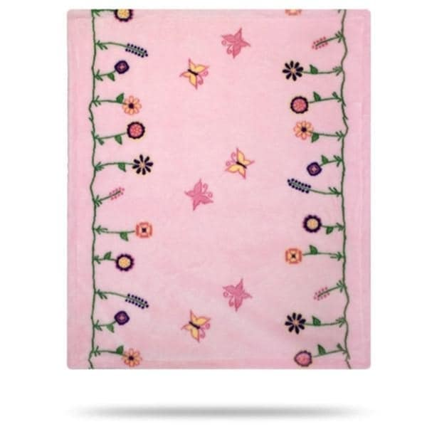 Whimsical Floral Pink/Soft Pink 30x36