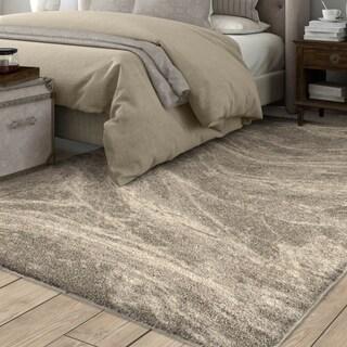 """Carolina Weavers Greige Mixed Marble Plush Shag Area Rug - 7'8"""" x 10'8"""""""