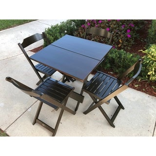Outdoor Square Dining Sets 5 piece Folding Patio Furniture