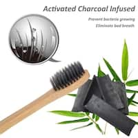 Natural Bamboo Charcoal Toothbrush with BPA-Free Bristles (Pack of 2)