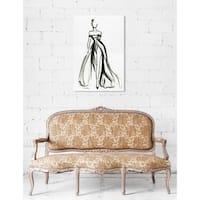 Oliver Gal 'Elegant Dress Ink II'Canvas Art