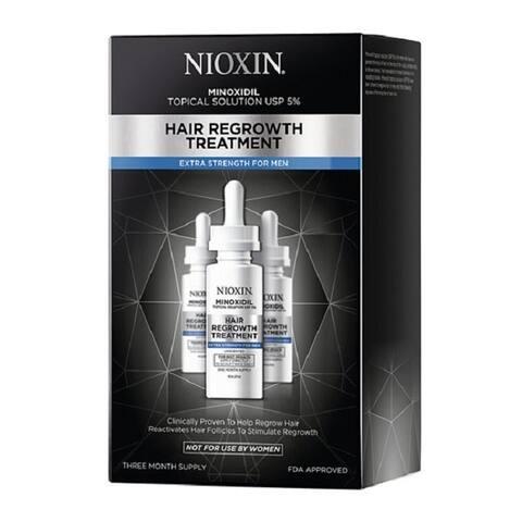 Nioxin Minoxidil 5% Men's Hair Regrowth Treatment Extra Strength (90 Day Supply)