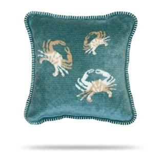 Denali Light Marine Sand Crab Cluster Pillow 18x18