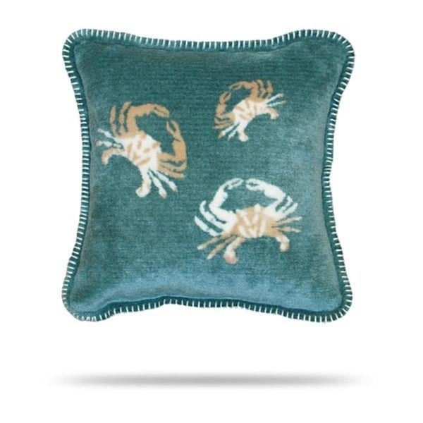 Denali Light Marine Sand Crab Cluster Pillow 18x18