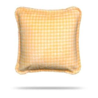 Denali Gingham Light Yellow Pillow 18x18