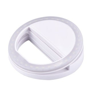 Selfie Ring 36 LED Light Supplementary Lighting - Night Selfie Enhancing for Smartphones - USB Rechargeable - Clip On