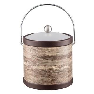 Brown Stone 3 Qt. Ice Bucket, Bale handle, acrylic lid