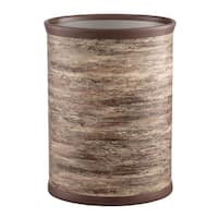 "Brown Stone 14"" Oval Waste Basket"