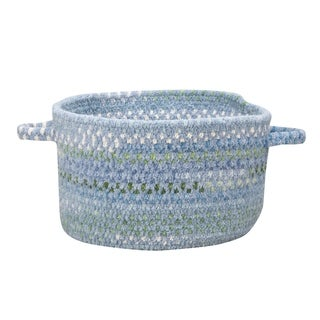 Capel Rugs Waterway 20-inch Blue Handmade Braided Basket
