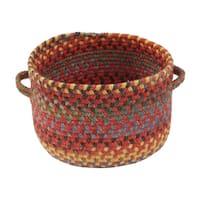 Capel Rugs High Rock 16-inch Red Handmade Braided Basket