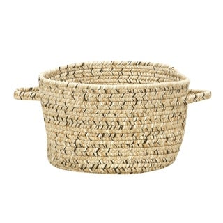 Sea Pottery 12-inch Sandy Beach Handmade Braided Basket