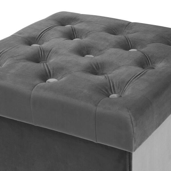 Outstanding Shop Poly And Bark Lauren Velvet Cube Storage Ottoman Free Ncnpc Chair Design For Home Ncnpcorg
