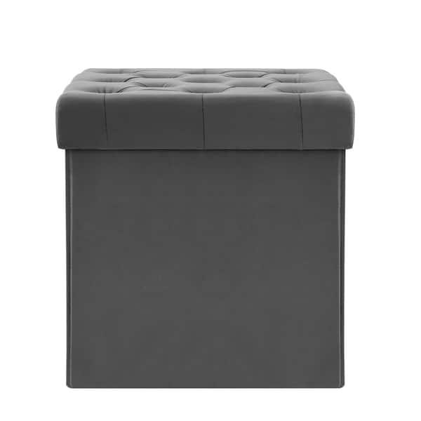 Wondrous Shop Poly And Bark Lauren Velvet Cube Storage Ottoman Free Ncnpc Chair Design For Home Ncnpcorg
