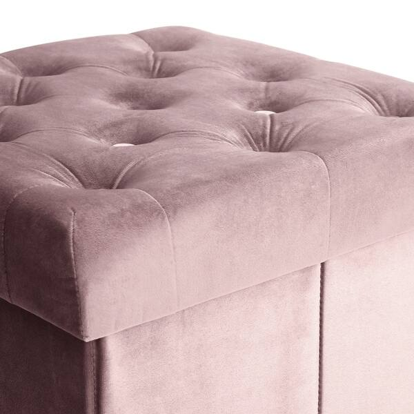 Phenomenal Shop Poly And Bark Lauren Velvet Cube Storage Ottoman Free Ncnpc Chair Design For Home Ncnpcorg