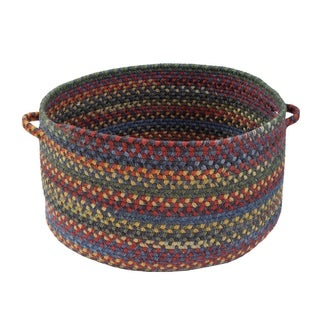 Capel Rugs High Rock 12-inch Blue Handmade Braided Basket