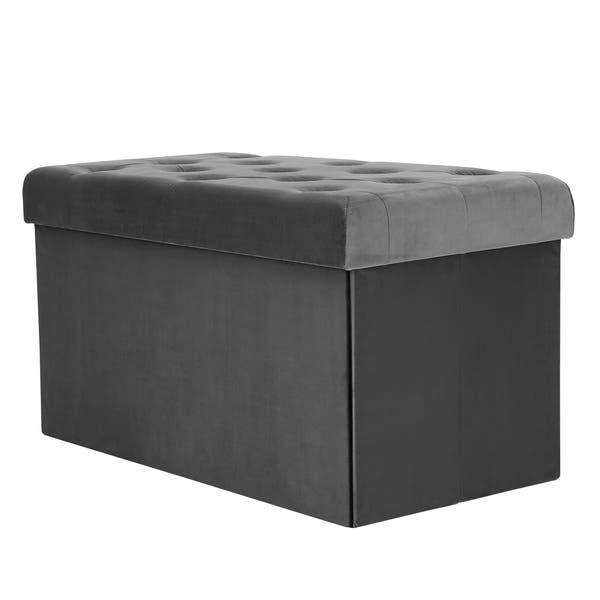 Prime Shop Poly And Bark Lauren Velvet Rectangular Storage Ottoman Ncnpc Chair Design For Home Ncnpcorg