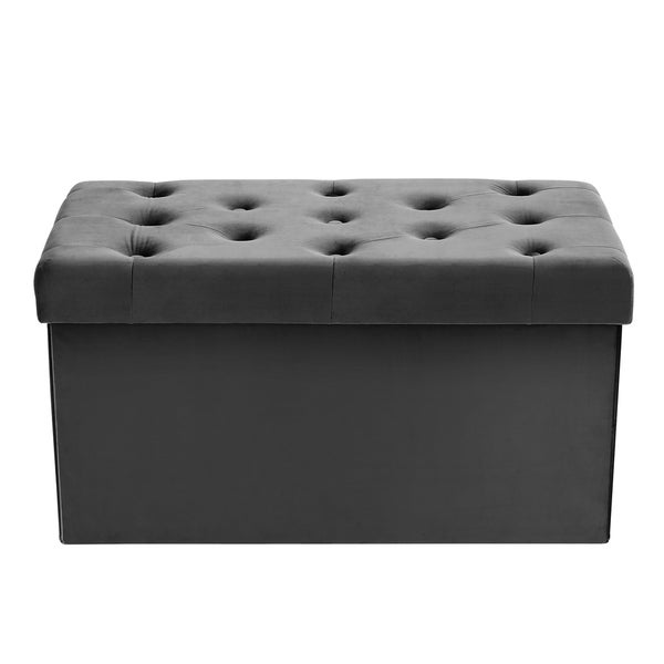 Etonnant Poly And Bark Lauren Velvet Rectangular Storage Ottoman