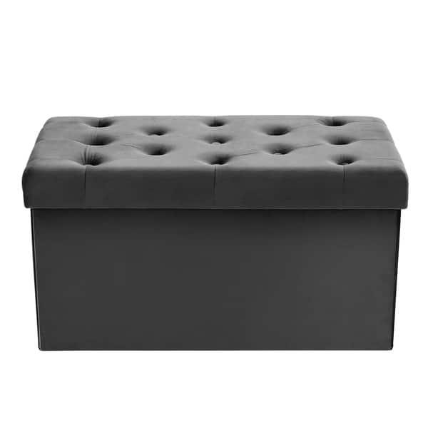 Wondrous Shop Poly And Bark Lauren Velvet Rectangular Storage Ottoman Ncnpc Chair Design For Home Ncnpcorg