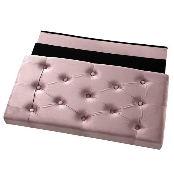 Super Shop Poly And Bark Lauren Velvet Rectangular Storage Ottoman Ncnpc Chair Design For Home Ncnpcorg