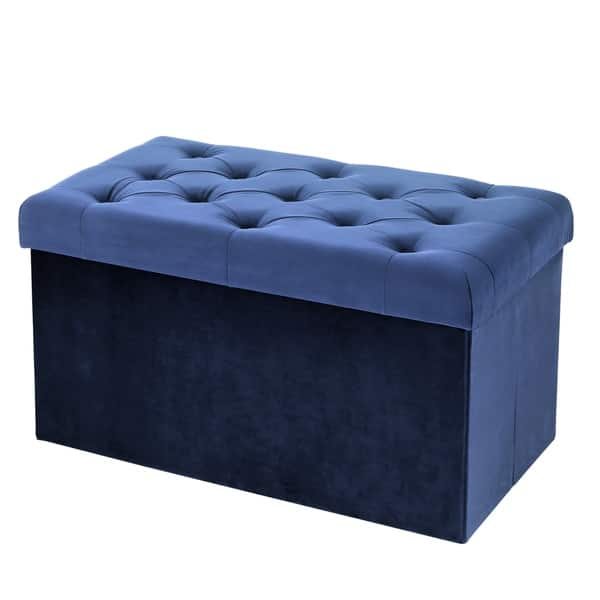 Awesome Shop Poly And Bark Lauren Velvet Rectangular Storage Ottoman Ncnpc Chair Design For Home Ncnpcorg