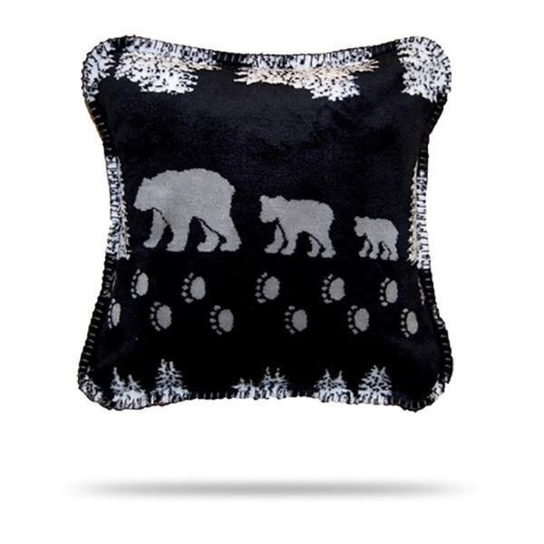 Denali Black Denali Bear Pillow 18x18