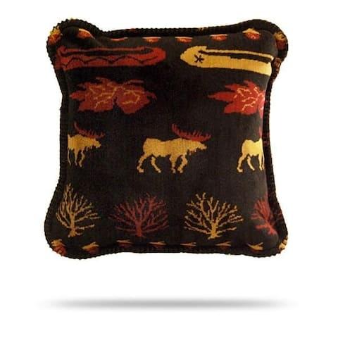 Denali Black Denali Lake/Merlot Pillow18x18