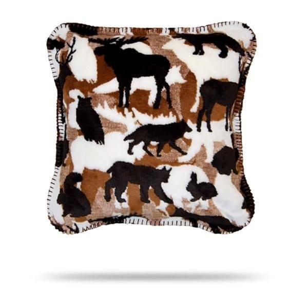 Denali Theme-O-Flage Lodge/Chocolate Pillow 18x18