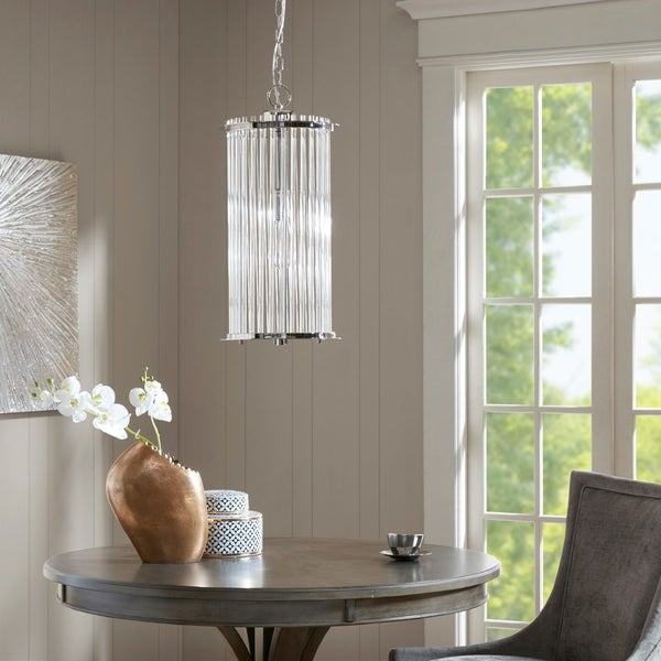 Madison Park Signature Beckton Glass Pendant - Silver