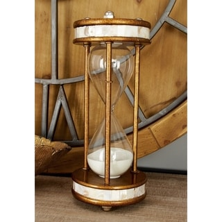 Strick & Bolton Buri Metal and Glass 60-minute Hourglass