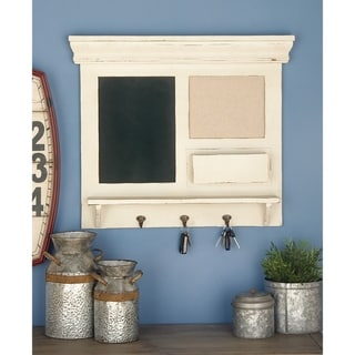 Porch & Den Merrie Lynn Wood Blackboard Wall Storage Shelf