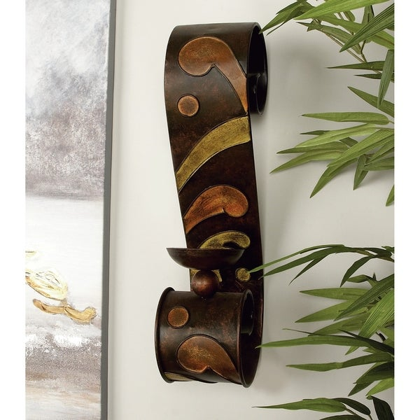 Copper Grove Seymour Metal Candle Sconce (Set of 2)